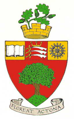 Arms of the former Borough of Acton; click the image to read more